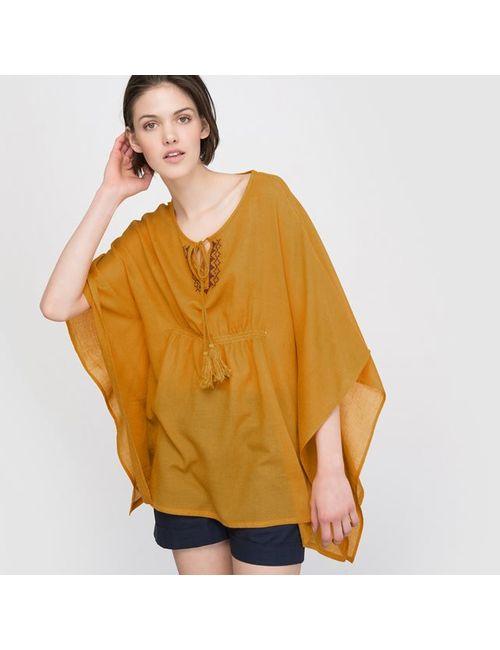 Мини-цена | Женская Жёлтая Блузка С Вышивкой