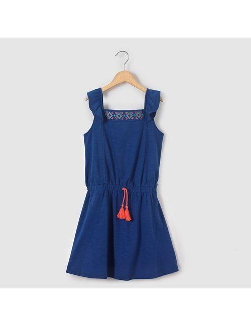R kids | Синее Платье На Бретелях 3-12 Лет
