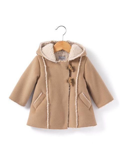 R baby | Бежевое Пальто На Подкладке Из Шерпы