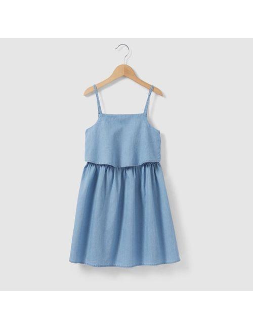 R kids | Голубое Платье Джинсовое На Тонких Бретелях На 3-12