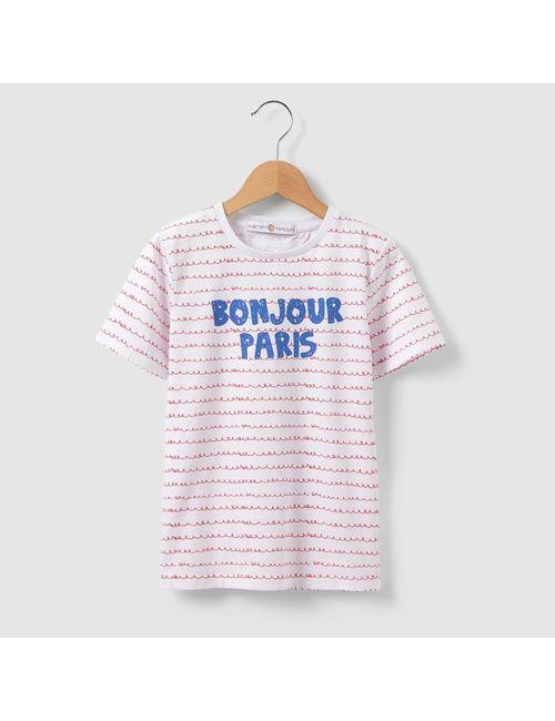 R kids | Вишневая Полоска Футболка С Рисунком Здравствуй Париж 3 12