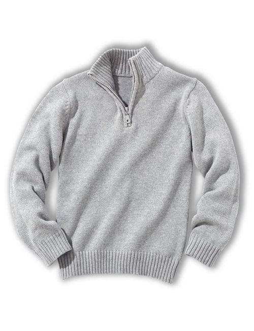 Мини-цена | Зелёный Пуловер С Высоким Воротником 3-12 Лет