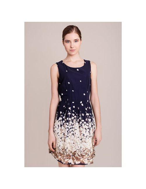 MAGICOLOR | Женское Синее Платье С Рисунком Без Рукавов