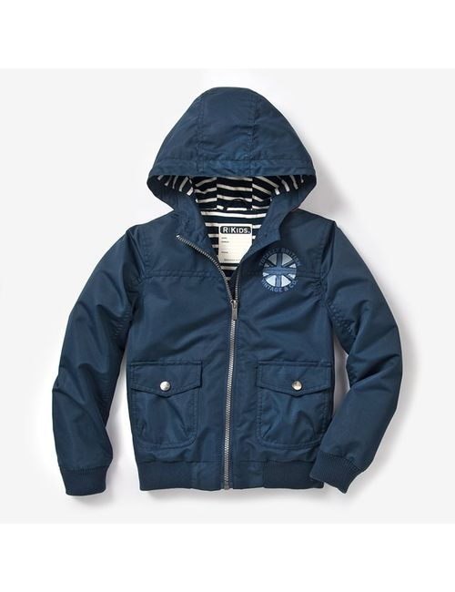 Мини-цена   Синий Блузон С Капюшоном С Рисунком Спереди 3-12