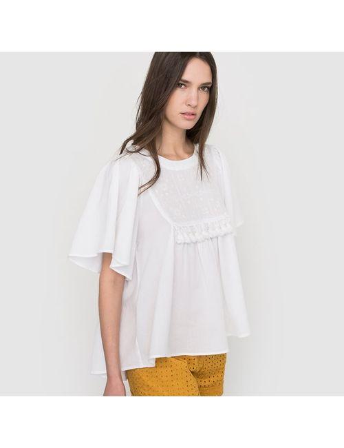 Vero Moda | Женская Красная Блузка Из Струящейся Ткани