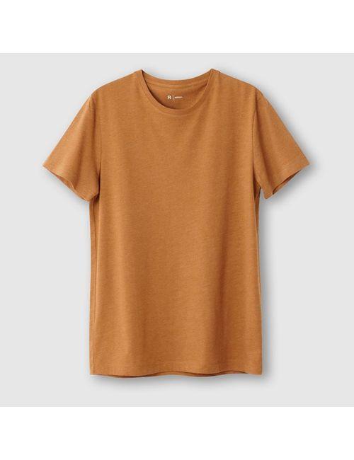 Мини-цена | Мужская Оранжевая Футболка С Короткими Рукавами И Круглым Вырезом