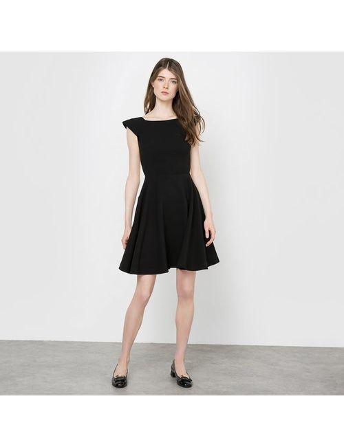 DELPHINE MANIVET X LA REDOUTE MADAME | Женское Чёрное Платье Короткое Вырез Сзади