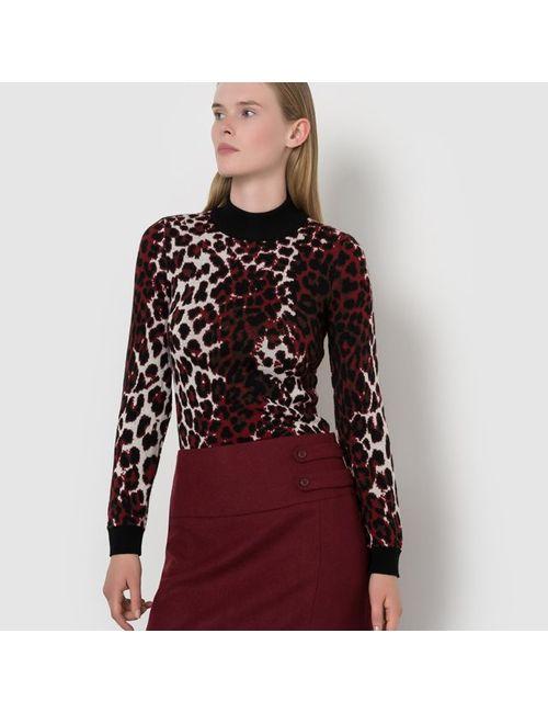 ISABELLE THOMAS X LA REDOUTE MADAME   Женский Набивной Рисунок Пуловер С Высоким Воротником