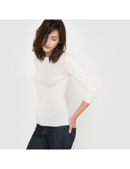 R essentiel | Женский Синий Пуловер-Водолазка Трикотажный