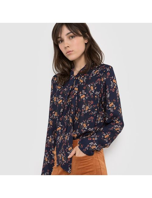 R édition | Женская Блузка С Бантом С Цветочным Рисунком