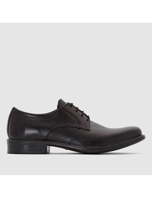 Geox   Мужские Чёрные Ботинки Из Кожи