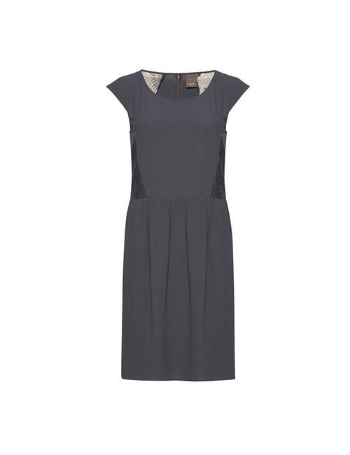 ICHI | Женское Синее Платье Из Струящейся Ткани С Короткими Рукавами