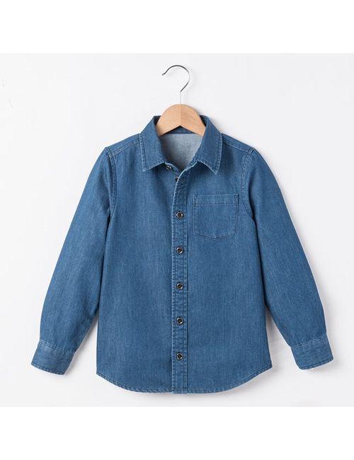 R essentiel | Синяя Рубашка Из Денима 3-12 Лет