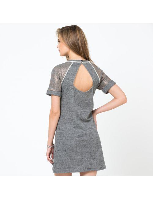SOFT GREY | Женское Серое Платье С Короткими Рукавами