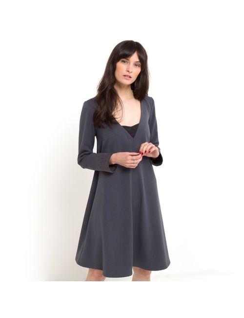 SOFT GREY | Женское Синее Платье