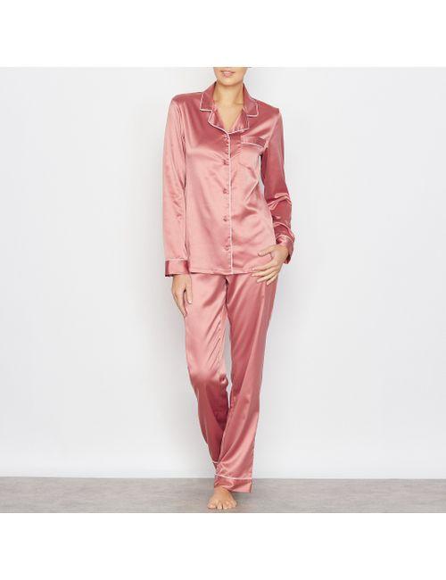 LOUISE MARNAY | Женская Розовая Пижама Из Атласа