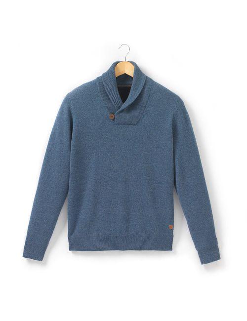 R essentiel | Мужской Синий Пуловер С Шалевым Воротником