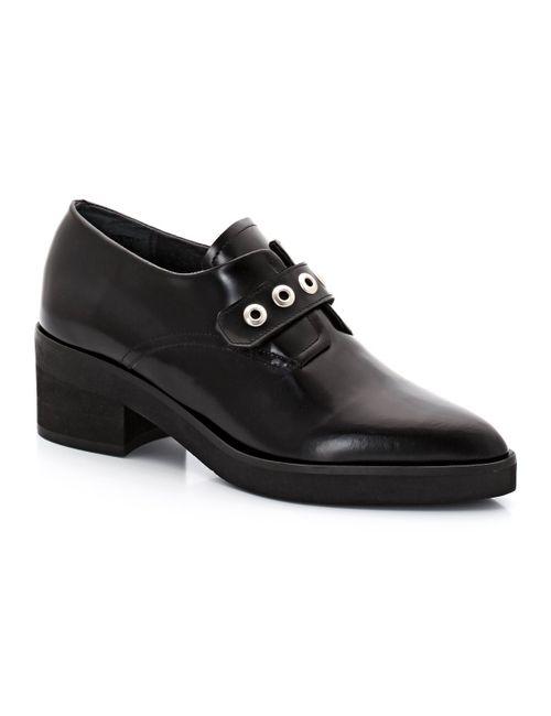 JONAK | Женские Чёрные Ботинки-Дерби Из Кожи Darnell