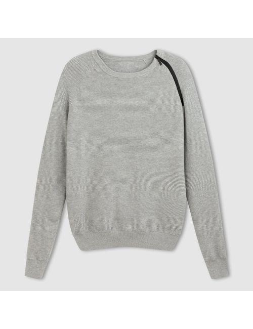 R essentiel   Мужской Синий Пуловер С Круглым Вырезом И Длинными Рукавами