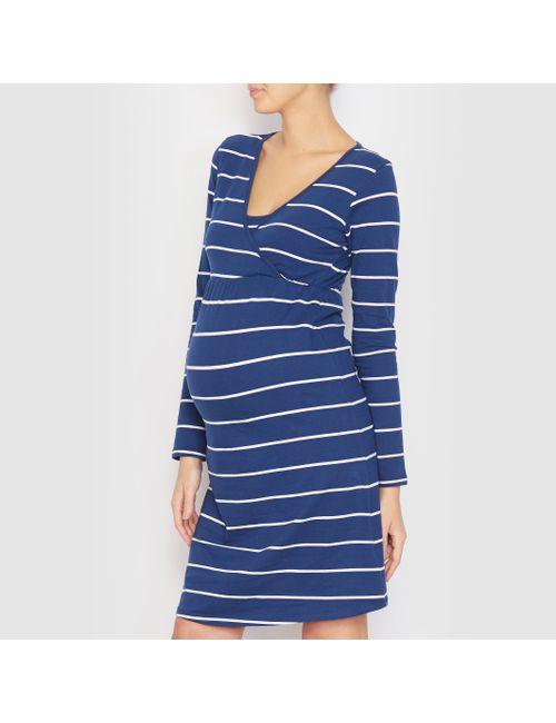 Cocoon   Женская Синяя Ночная Сорочка Для Беременных И Кормящих Женщин