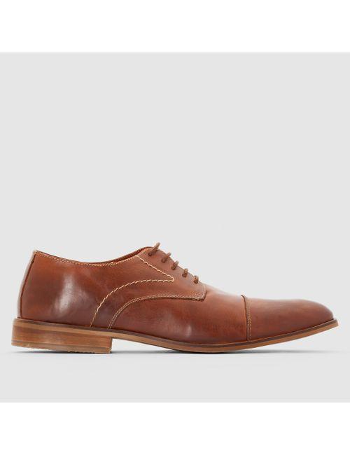 CASTALUNA FOR MEN | Мужские Чёрные Ботинки-Дерби Из Кожи