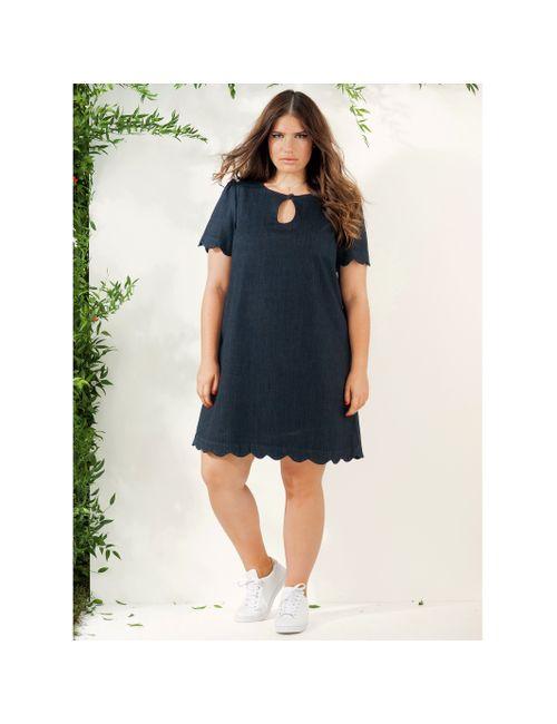 CASTALUNA | Женское Синее Платье Джинсовое