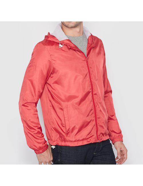 Мини-цена   Мужская Розовая Куртка-Ветровка На Молнии С Капюшоном