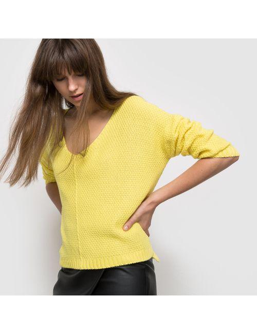 R édition | Женский Жёлтый Пуловер Широкого Покроя
