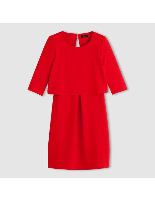 R édition | Женское Синее Платье 2 В 1 Из Текстурного Трикотажа