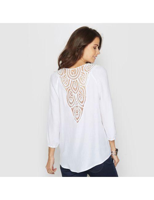 ANNE WEYBURN | Женская Белая Блузка С Оригинальной Отделкой На Спине