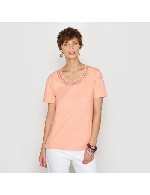 ANNE WEYBURN | Женская Розовая Футболка 100 Хлопка