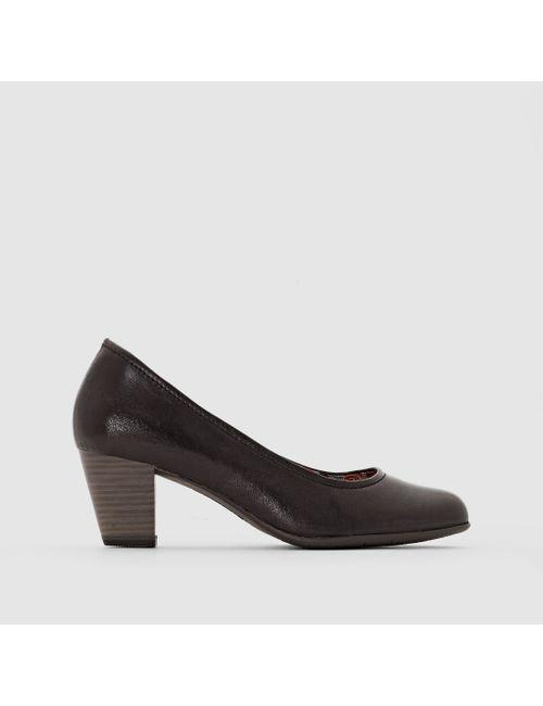 Tamaris | Женские Чёрные Туфли-Лодочки Из Кожи