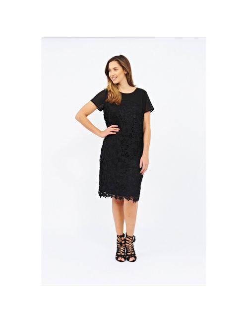 Lovedrobe | Женское Чёрное Платье С Короткими Рукавами