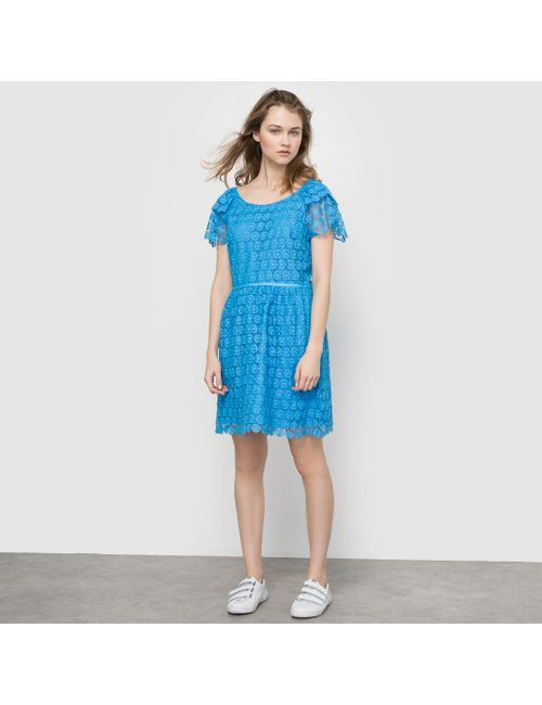 MADEMOISELLE R | Женское Синее Платье Из Кружева
