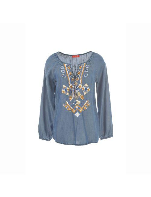 Rene Derhy | Женская Синяя Блузка Из Денима