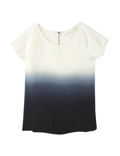 SUD EXPRESS | Женская Синяя Блузка С Эффектом Деграде Tarylin