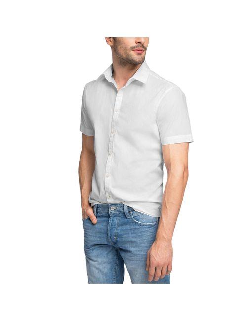 Esprit | Мужская Чёрная Рубашка С Короткими Рукавами