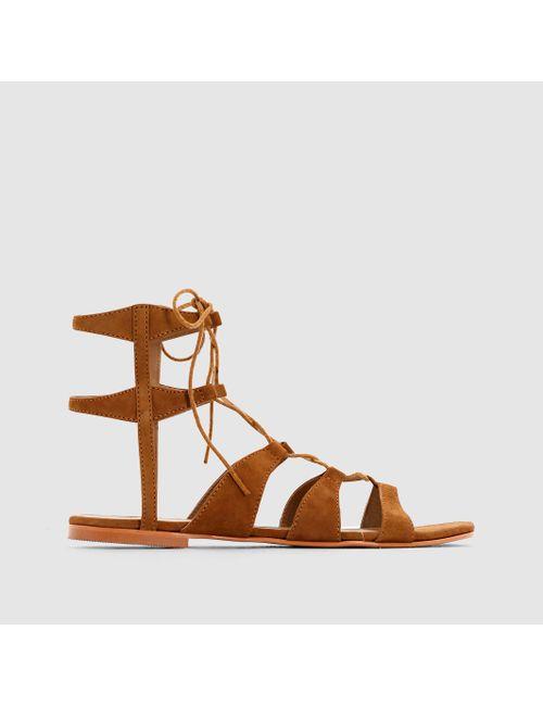 Vero Moda | Женские Коньячные Босоножки Кожаные Vmmille Leather Sandal