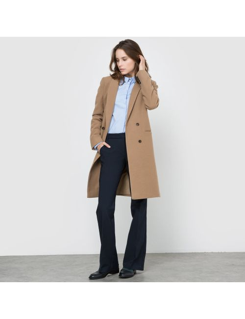 atelier R | Женское Черный Пальто Прямого Покроя Из Шерстяного Драпа