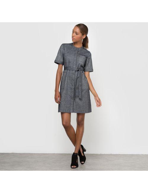 R essentiel | Женское Синее Платье-Фартук С Поясом