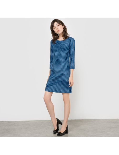 MADEMOISELLE R   Женское Синее Платье С Шахматным Узором