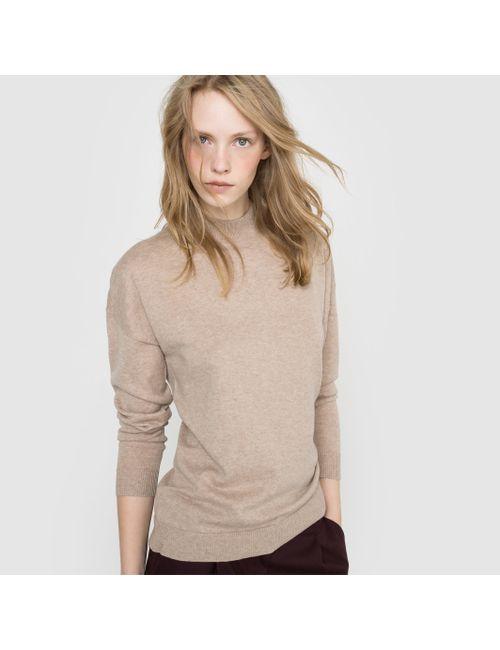 R essentiel | Женский Розовый Пуловер С Высоким Воротником Из Кашемира И
