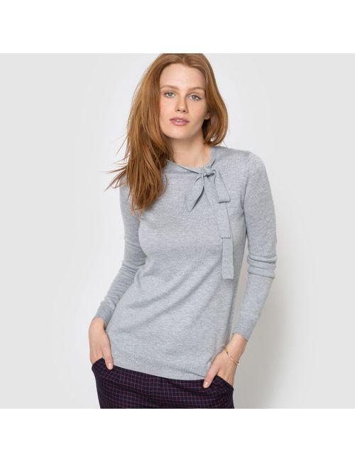 R essentiel | Женский Синий Пуловер С Бантом