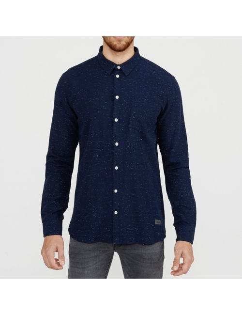 Minimum | Мужская Синяя Рубашка Bronxwood Зауженного Покроя