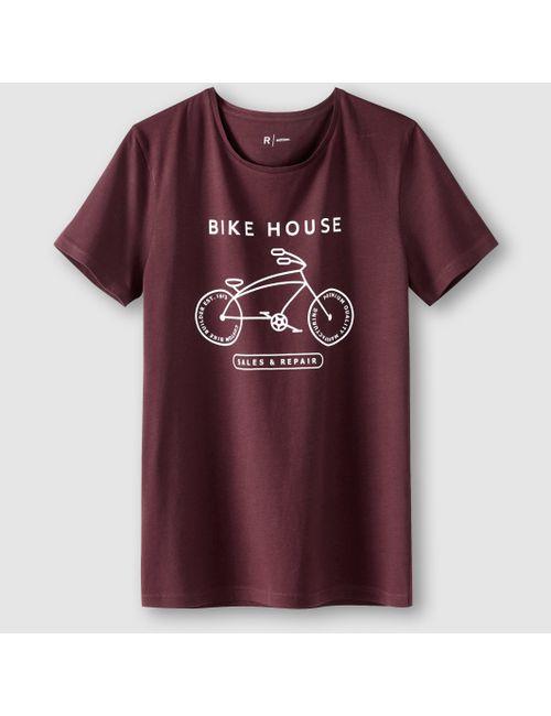 R édition | Мужская Сливовая Футболка С Рисунком Bike