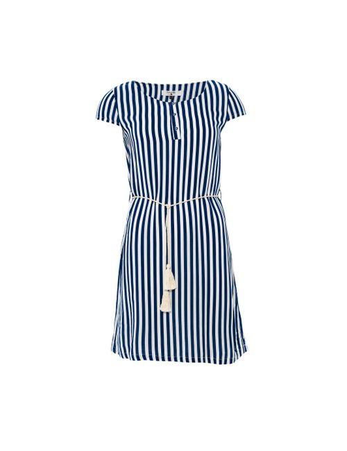 Paramita | Женское Платье С Короткими Рукавами В Полоску И