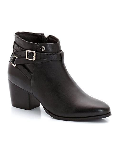 Elle | Женские Чёрные Ботинки Кожаные Pereire