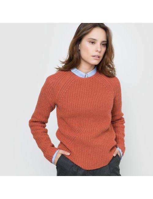 atelier R | Женский Кирпичный,Экрящий Пуловер Из Трикотажа В Рубчик