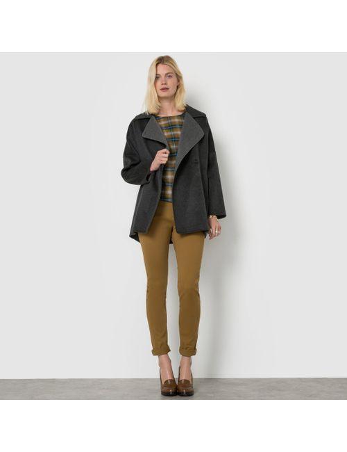R essentiel | Женское Серое Пальто Двухцветное