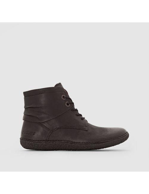 Kickers | Женские Чёрные Ботинки Кожаные Hobylow